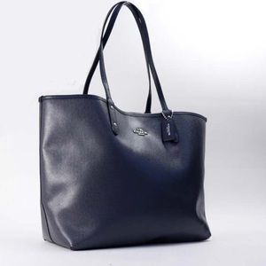 COACH TOTE (NAVY BLUE)